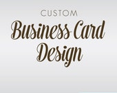 Business Card Design Custom Designed by BitsyCreations
