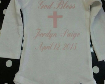 Boutique Personalized Baptisim, Christening Bodysuit
