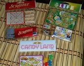 Scrabble, Candy Land, and The Game of Life Jolee's Boutique sticker collages