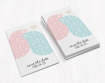 Save the Date Cards  Wedding Invitation  Wedding Card  Modern Wedding  Love Birds Save the Date  SD2
