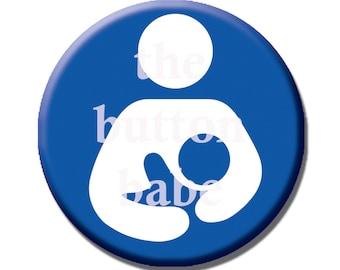 1 Inch Button - Breastfeeding Symbol