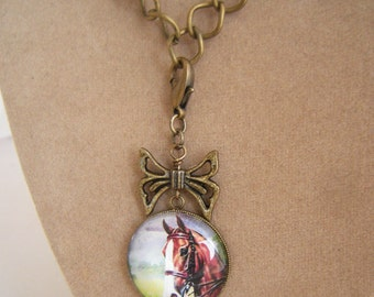 Horse Convertible Charm Necklace Custom orders accepted