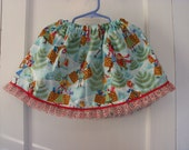 Clearance Sale Winter Holiday Shopping Print Skirt ONE SIZE FITS 12 months to 3T