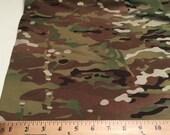 Camo Poly Cotton Knit  Fabric  7/8  Yard