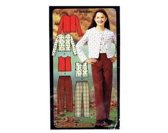 Girls Pants Knit Tops Simplicity 5869 Sewing Pattern Size 7 - 8 - 10 - 12 - 14 UNCUT