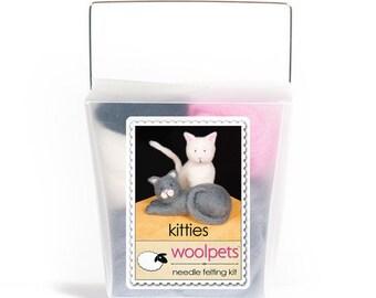 Kitties Needle Felting Kit
