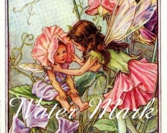 Digital download*Instant*Flower Fairies*Fairy*Sweet Pea Fairies*Sewing*Cards*Greeting cards*Tags*Greeting  Cards*Frame*Collage*Decoupage