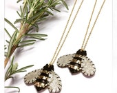 Baby Bumble Bee Necklace