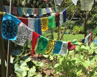 Garden Prayer Flags - set of 25