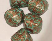 Verdigris Finial Beads