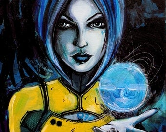 Print - Borderlands fan art - video game art - Maya - art by Aja Phaselock - 8x10, 11x14, 16x20, 20x24, and 24x30 inches choose your size