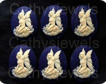 Spring Repose Fairy Cameos  Set of Six 40x30