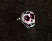 Calaca Day of the Dead Adjustable Ring V 4