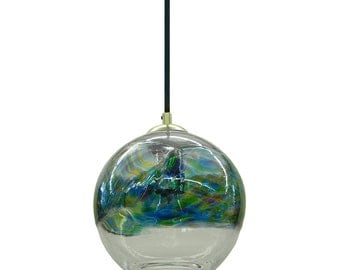 ON SALE  In  Stock Ocean Banded Hand Blown Glass Pendant Light Chandelier Hanging Lights  ( normally 380)