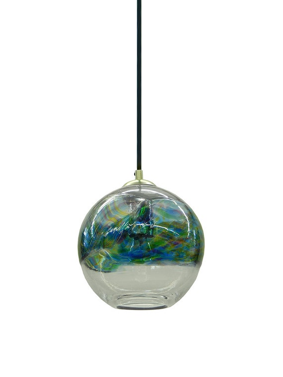 hand blown glass pendant light chandelier hanging lights normally