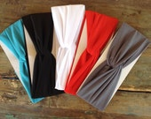 Basic Jersey Knit Turban Headwrap Headband Hair Band
