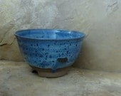 Serving Bowl - Handmade Stoneware Ceramic Pottery - Rutile Blue - 1-3/4 Quarts
