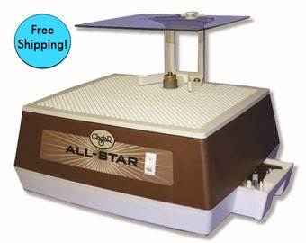 "FREE SHIPPING ))(( Glastar Allstar G8 Glass GRINDER 1/4 & 1"" bits,Mini table,Face Shield +Warranty"