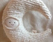 Plush Moon Pillow Toy Baby Child Celestial Natural Eco Friendly Waldorf Crescent Moon