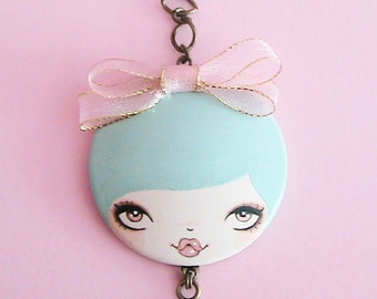 Rosa Doll Face Necklace