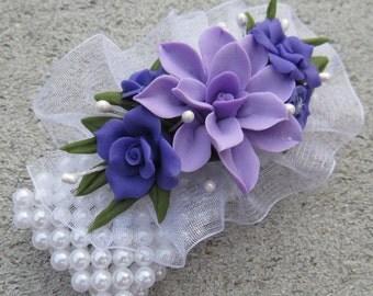 Cold Porcelain Floral Wrist Corsage