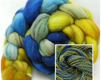 Very Starry Hand Dye Spinning Fiber - Roving Dyed to Order