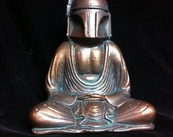 Weathered Bronze  Buddha Fett  Custom Boba Fett  Buddha  Original  Sculpt and cast