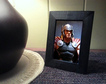 "Framed Avengers Thor Action Figure Toy Photograph 4"" x 6"" Comic"