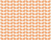 Curious Bunnies Fun - Tangerine Orange White - Curiosities by Jeni Baker  Art Gallery Fabrics - Premium Quilting Cotton Fabric - One Yard