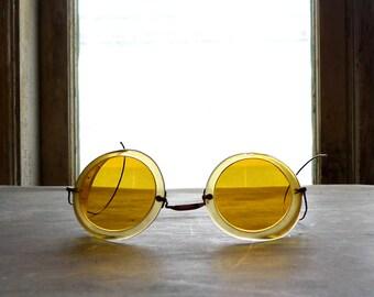 Antique WWI Era Roadster Motoring Goggles 1915 Patent
