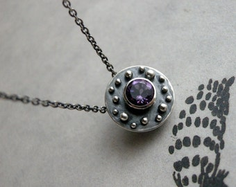 Asteroids Necklace -  Amethyst