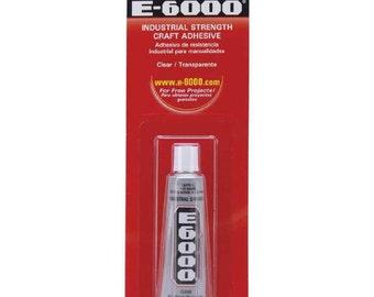 E-6000 Adhesive All purpose Craft Glue 0.18 OZ - .5 OZ (T300)