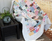 """SUNKISSED Drop Dead Gorgeous Minkee backed Snuggle Quilt 57"""" x 75"""" multicolor designs"""