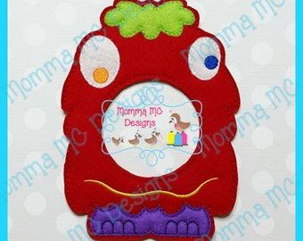 Silly Monster Lens Buddy Photo Friend Machine Embroidery Design
