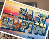 Vintage Large Letter Postcard Save the Date (East Hampton, NY) - Design Fee