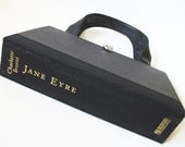 Book Purse Charlotte Bronte Jane Eyre Novel Handbag, Book Bag, Black Clutch