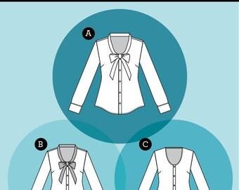 Oakridge Blouse - Sewaholic - Sewing Pattern
