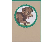 Playful Puppy Illustration Gift Card