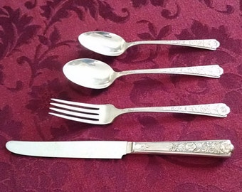 Sale: Royal Rose Sterling Silver Flatware Set by Century/International for 6 People