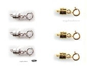 3x Sterling Silver and 3x 14K Gold Filled Magnetic Clasp Converter Clasps F305