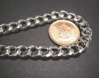 5 feet 9x7mm silver finish heavy metal chain-4034