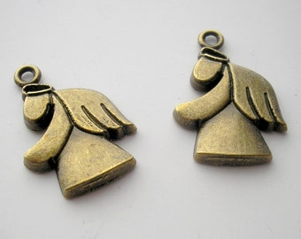 2 Angel Charms - Brass
