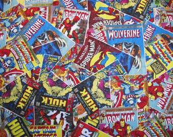 Marvel Comics Avengers X-Men Wolverine Fabric Fat Quarter 18x21