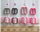 Tiny Mini Metal And Plastic Buckle - 25 pcs - Doll Dress Supplies