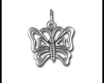 Sterling Silver Fancy Outline Butterfly Charm