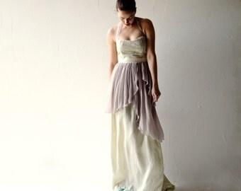 Wedding dress, Boho wedding dress, Bohemian wedding dress, Beach wedding, Lavender wedding dress, Alternative dress, Fairy wedding dress