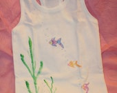 Something's Fishy racer back tank top, tshirt, girls size large
