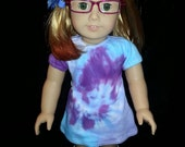 American Girl Robins Egg Tye Dye Doll mini dress