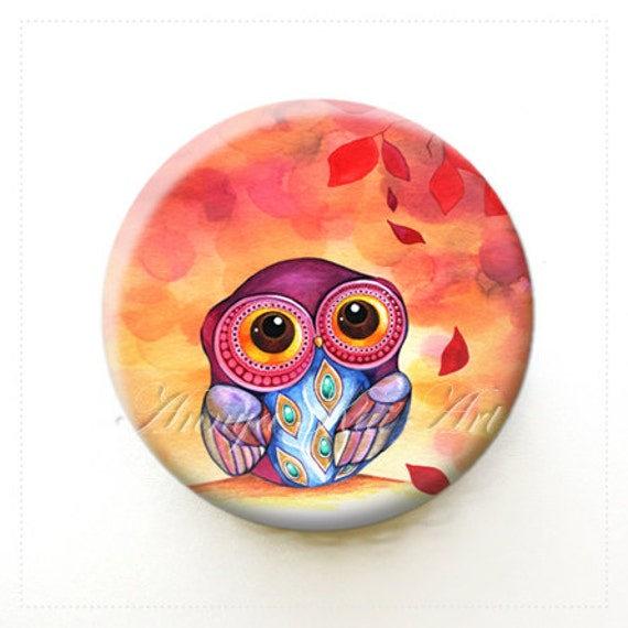 Party Favor for Kids - Little Owl - Collectible Art Mirror - Gift for Little Girl