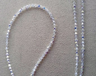 Handmade with Totally Swarovski Elegant Crystal Ab Eyeglass Chain